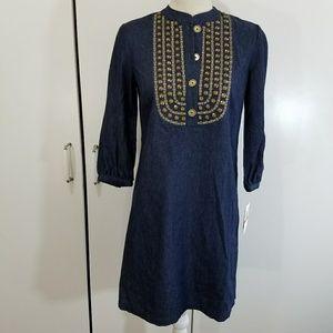 New Michael kors size XS denim studded dress